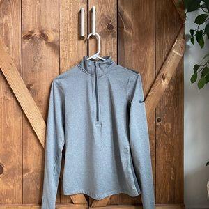 Grey Nike dri-fit quarter zip